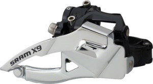 SRAM X9 2 x 10 Top Pull 31.8/34.9mm Low Clamp Front Derailleur