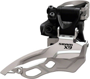 SRAM X9 3 x 10 Dual Pull HiClamp 31.8mm Front Derailleur