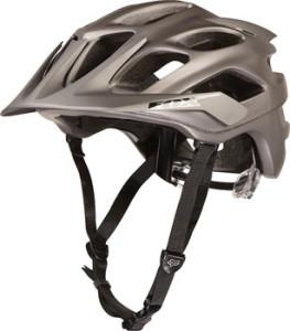 Fox Racing Flux Helmet: Titanium~ LG/XL