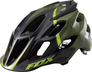 Fox Racing Flux Helmet: Fatigue Green~ SM/MD