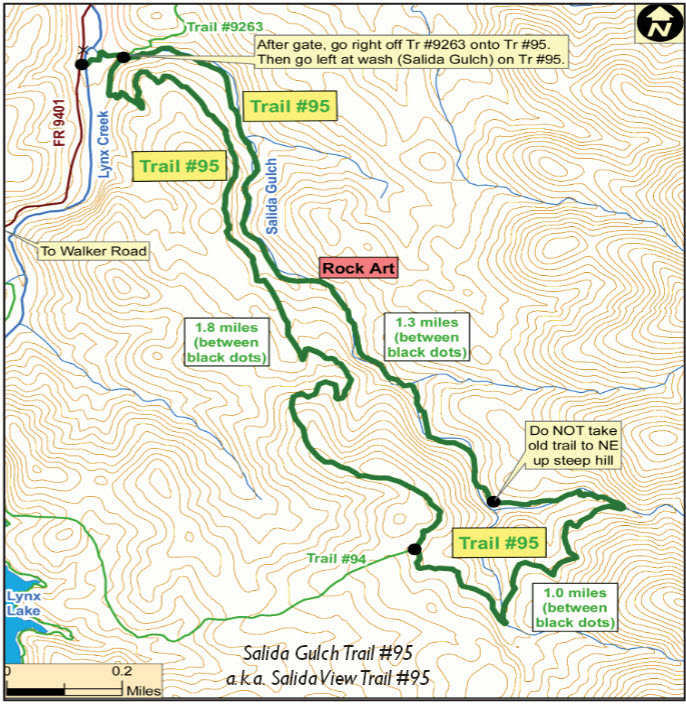 Salida Gulch Trail 95 Map2