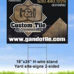 G&O TILE yard sign 799x943